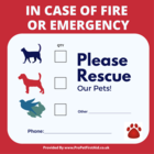 Please Rescue My Pets Stickers - pack of 2