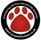 Pet First Aid Qualified Stickers - pack of 2