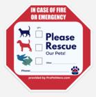 Pet Fire Emergency Sticker