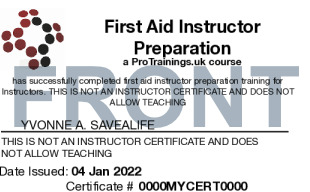 Sample Instructor Preparation Blended Part One Card Front