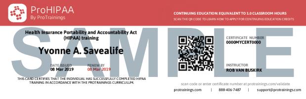 HIPAA Course Details | ProTrainings