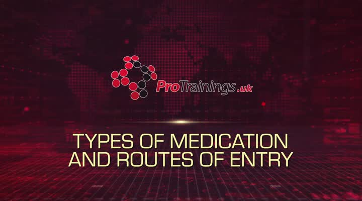 Types of Medications and Routes of Entry