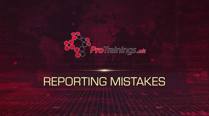 Reporting Mistakes