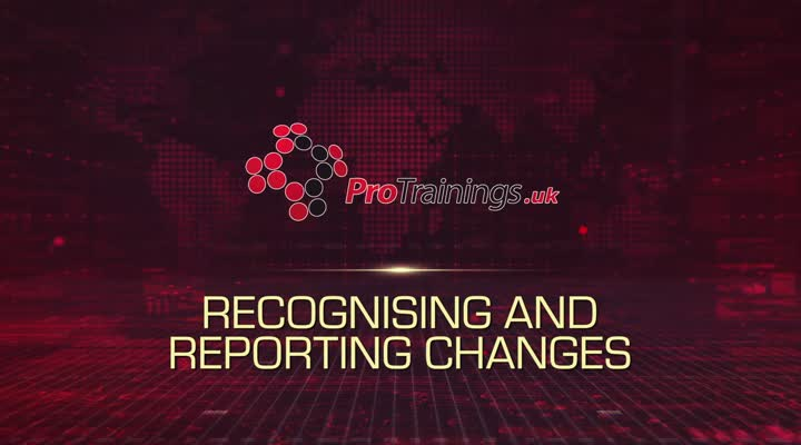 Recognising and Reporting Changes to the Individual