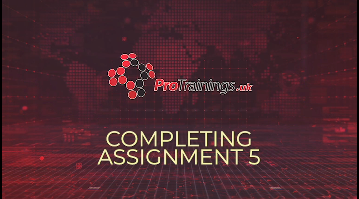 Completing assignments - part 5 (optional)