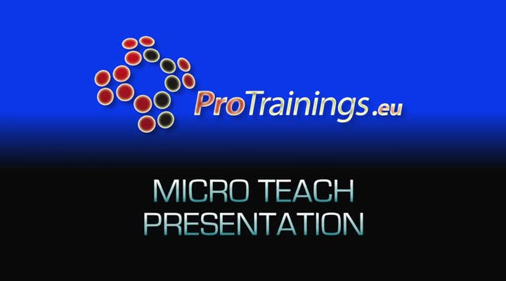 Preparing for your micro teach presentation (optional)