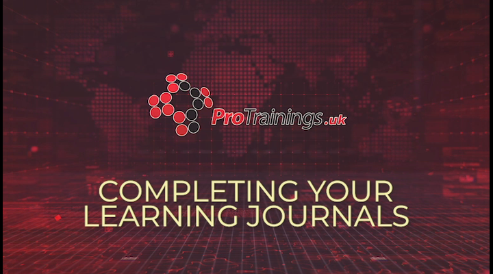 Completing your learning journals (optional)