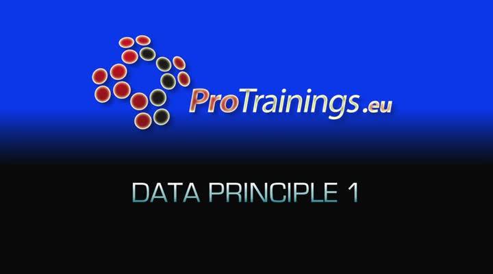 Data Principle 1