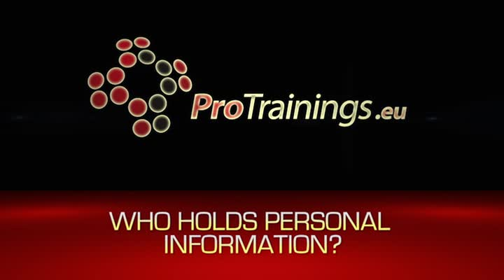 Who holds personal information