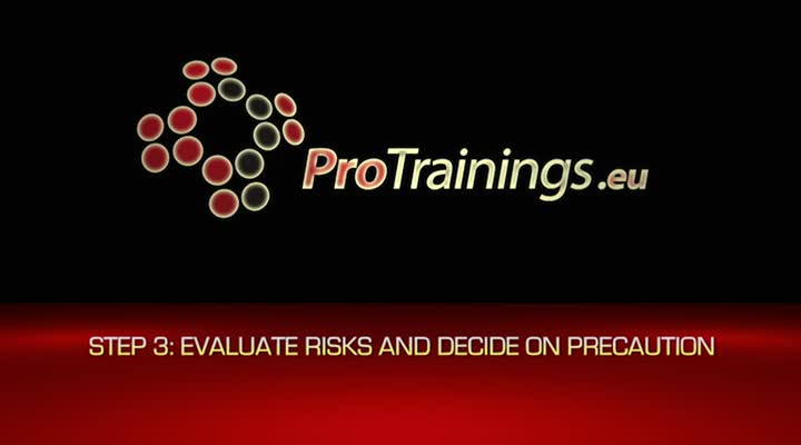 3.  Evaluate the risks and decide on precaution