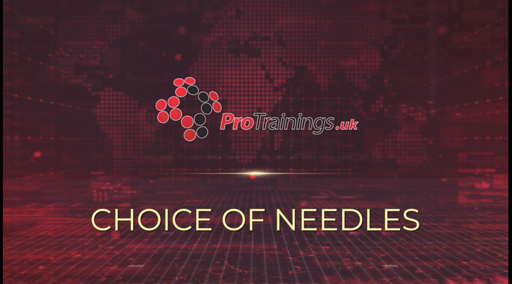 Choice of needles