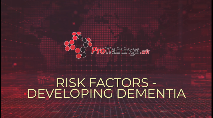Risk factors affecting the chance of developing dementia