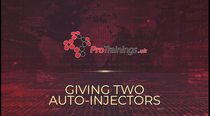 Guidelines on giving two auto injectors