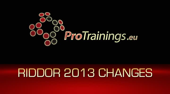 Changes to RIDDOR 2013