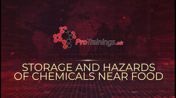 Storage and Hazards of Chemicals Near Food