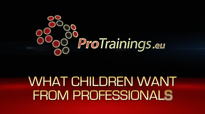 What children want from Professionals