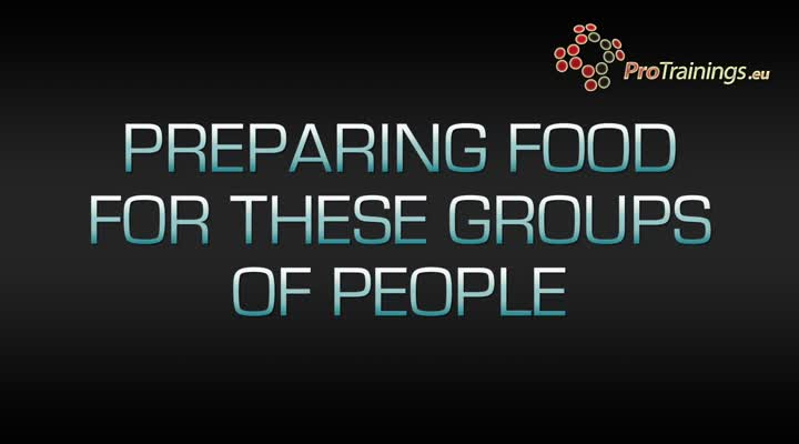 High risk groups of people for food safety