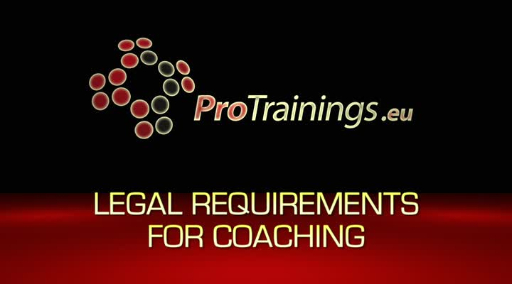 The legal requirements in coaching