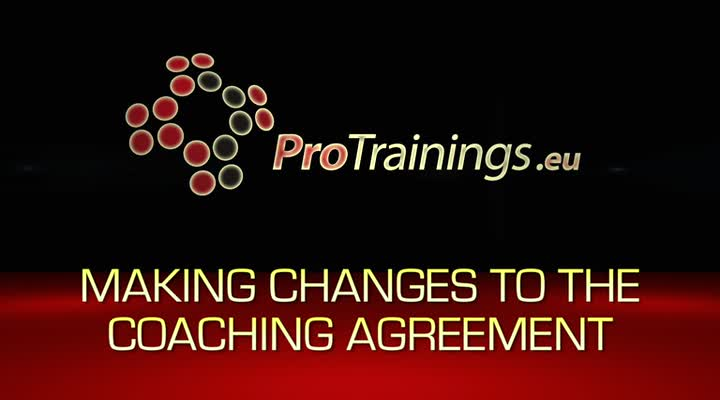 Making changes to the coaching agreements