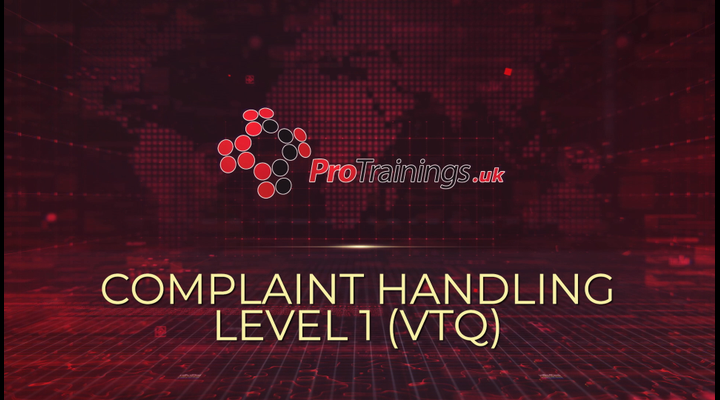 Introduction to complaint handling