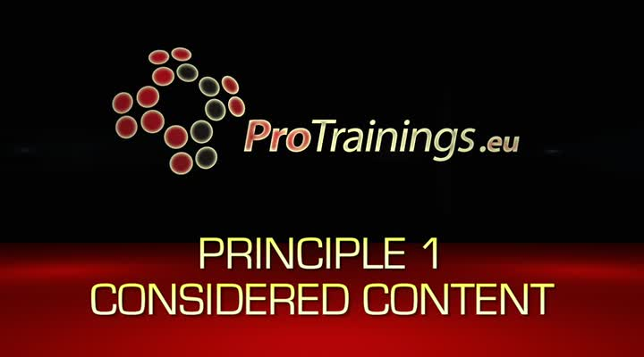 Principle 1 Considered Content