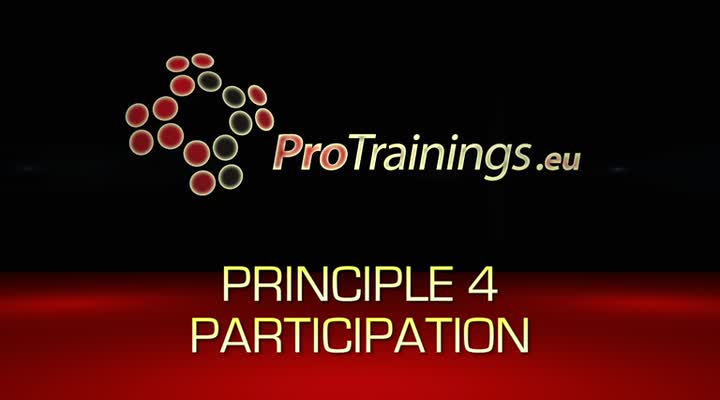 Principle 4 Participation
