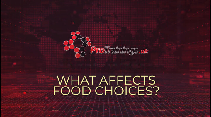 What affects food choice and intake