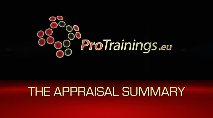 The Appraisal Summary