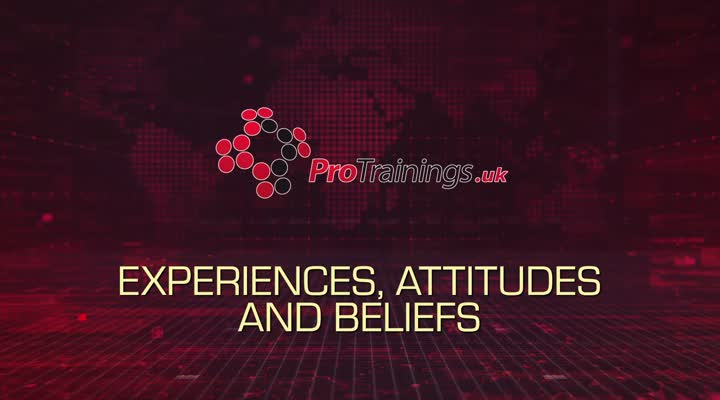Experiences, attitudes and beliefs