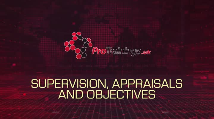 Supervision, appraisal and objectives