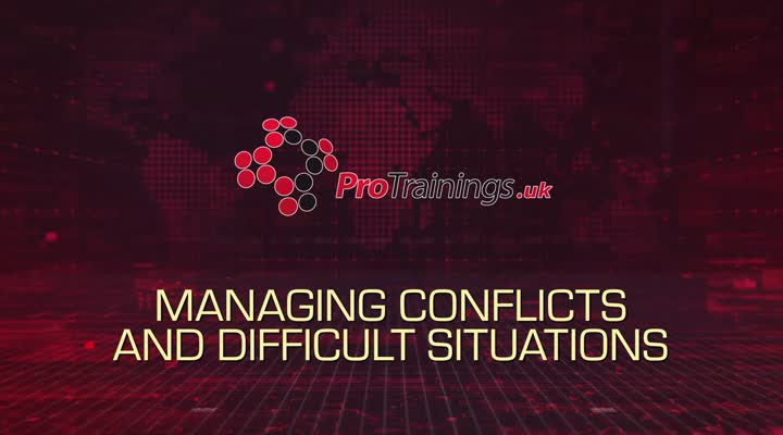 Managing conflict and difficult situations