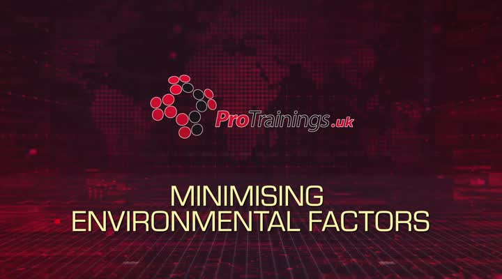 Minimising environmental factors that may cause discomfort or distress
