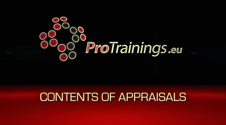 Content of appraisals