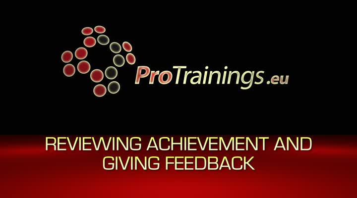 Reviewing achievement and giving feedback
