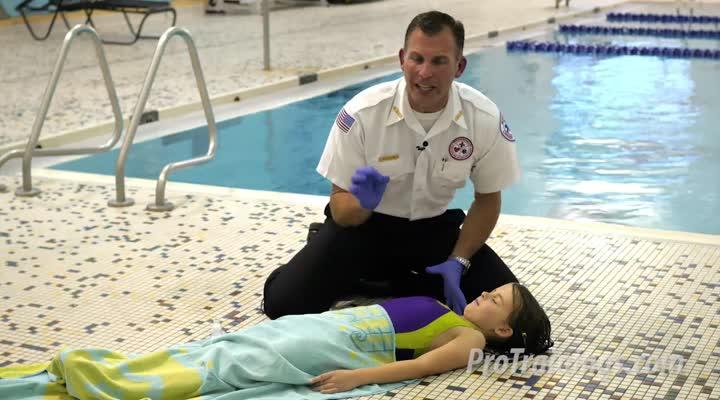 Respiración de rescate en niños