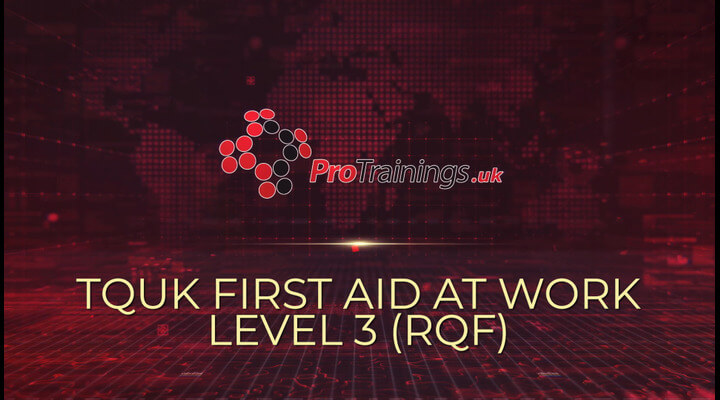 TQUK Level 3 Award in First Aid at Work (RQF) blended part one course introduction