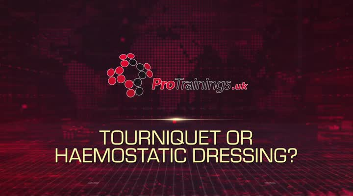 Haemostatic dressing or tourniquet?