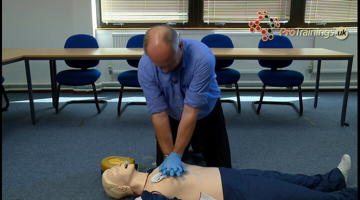 AED demo for units with CPR help