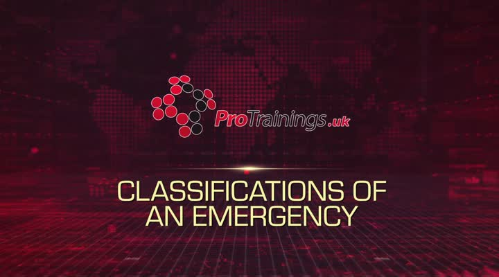 Classifications of an Emergency