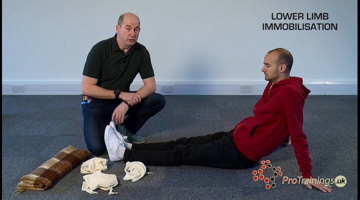 Lower limb immobilisation