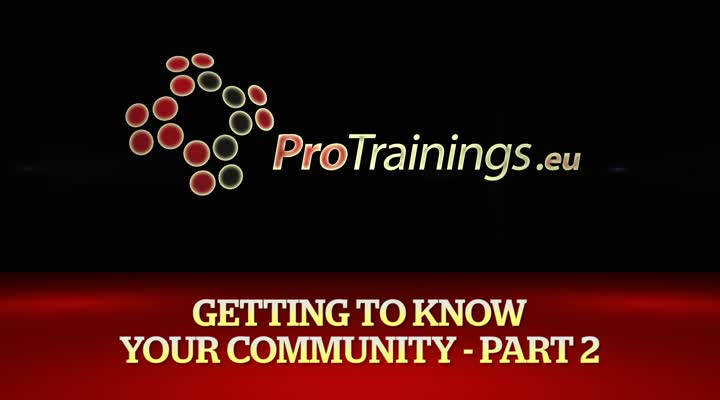 Getting to know your Community part two