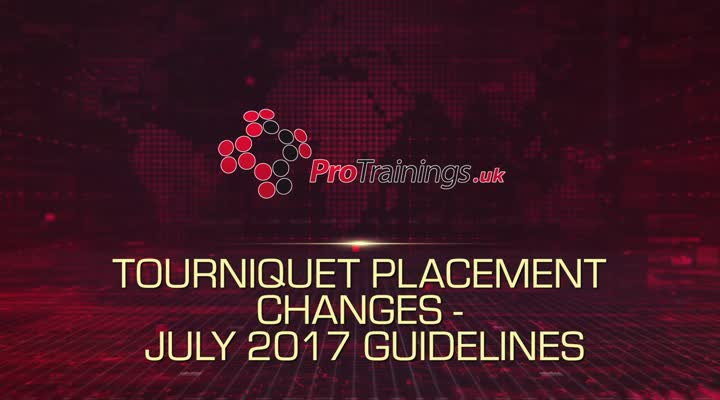 Tourniquet placement changes - July 2017 Guidelines