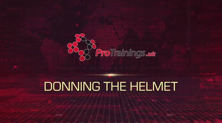 Donning the helmet