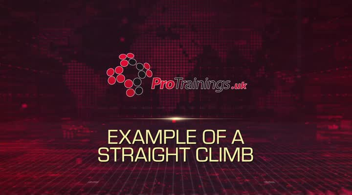 Example of a straight climb