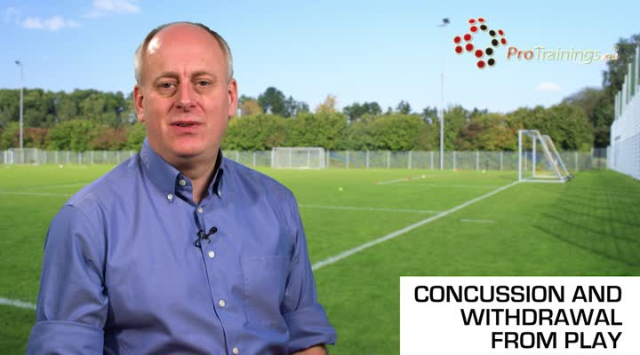 Concussion memory test and withdrawal from play