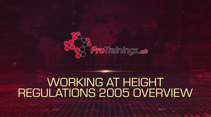 Working at Height Regulations 2005 Overview
