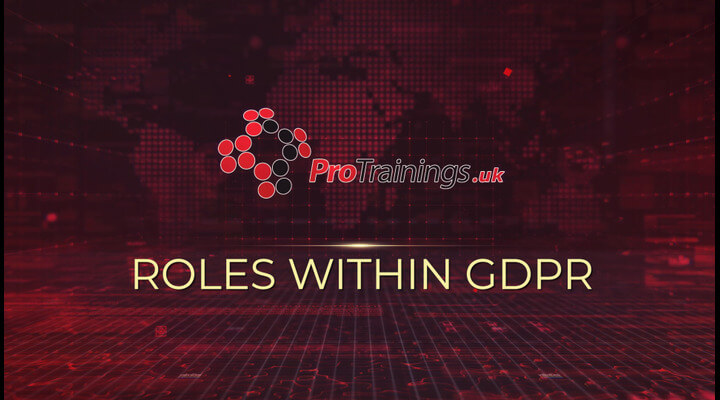 Roles within GDPR