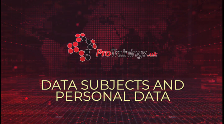 Data Subject and Personal Data under GDPR