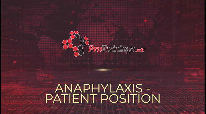 Anaphylaxis patient position