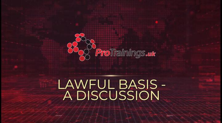Lawful Basis